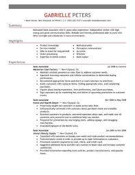 Retail Sales Associate Job Duties For Resume Resume Job
