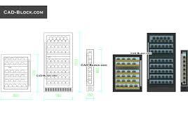 Cool Autocad Designs Wine Cooler Free Cad Blocks Download