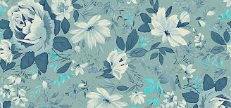 Flower Pattern Wallpaper Inspiration Floral Pattern Wallpaper Flower Background Blue Leaves Seamless
