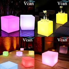 <b>2016 Hot Sale</b> Multi Function 40cm Christmas Lighting Cube Stool ...