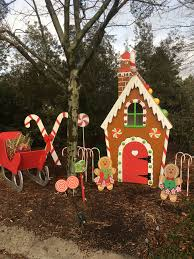 Gingerbread Outdoor Lights Wooden Gingerbread House Life Sized Christmas Yard