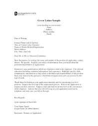 Cover Letter Examples In Italian