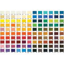 Oil Paint Colour Chart
