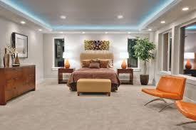 ceiling cove lighting. Awesome Master Bedroom Furnished With Modern And Illuminated Table Lamps Cove Lighting : Ceiling