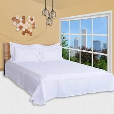 6 pc duvet cover set king size cotton 300 tc damask check pattern white color high quality duvet cover bedsheet 4 pillow cases by just linen souq
