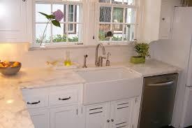 Interesting Square White Porcelain Farmhouse Kitchen Sink Chrome