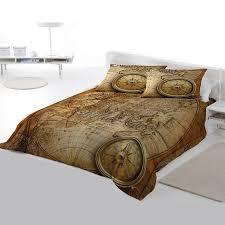 steampunk bedding set old world navigation king size duvet set us queen size