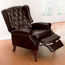 Narrow Armchair Furniture Leather Wingback Recliner For Comfortable Armchair
