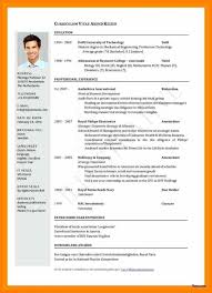 International Format Resume 19 Basic English Cv Templates Sopexample
