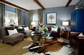 brown blue living room. Rustic Contemporary Living Room Ideas Brown Blue