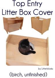 meow town mdf litter box. Meow Town Mdf Litter Box. Top Entry Box Cover (birch, Unfinished)