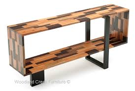 contemporary sofa tables. Butcher Block Pattern Open Cabinet Contemporary Sofa Tables O