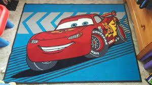 large disney cars lightning mcqueen rug mat