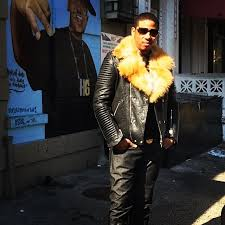 vado wearing sd new york leather moto jacket in my bae