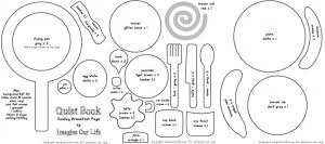 Quiet Book Patterns Amazing Let's Cook Breakfast Quiet Book Page Imagine Our Life
