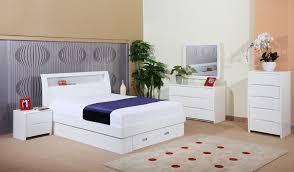 storage white platform bed
