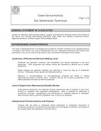 Vet Tech Resume Skills For Veterinary Technician Veterinarian