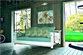 canopy porch swing bed outdoor floating swings front