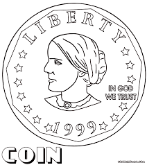 Small Picture Coin Coloring Pages Within Coloring Pages itgodme