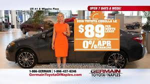 Germain Toyota of Naples Summer Sale Corolla Lease Special - YouTube