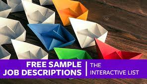 Free Sample Job Descriptions: The Interactive List – Proven