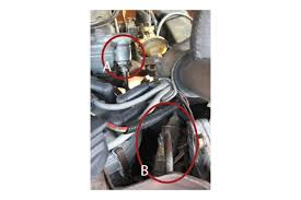 e350 motorhome stalled out ford truck enthusiasts forums filter so i attached a few photos of where the fuel lines tie into the front of the carb is it a or b or if neither where should i be looking