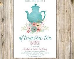 Tea Invitations Printable High Tea Invitation Etsy