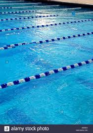 lanes in a swimming pool stock image
