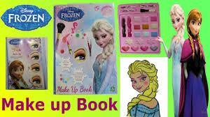frozen make up artist book elsa makeup toy set tutorial for kids you
