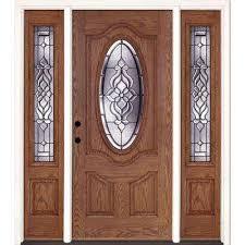 modern fiberglass entry doors. 67.5 in.x81.625 in. lakewood patina 3/4 oval lt stained modern fiberglass entry doors v