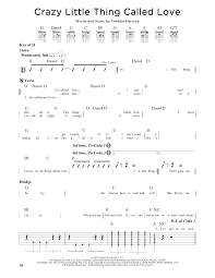 crazy little thing called love sheet music crazy little thing called love sheet music by queen guitar lead