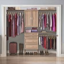 Walk in closet systems Mens Custom Suite Symphony 84 The Container Store Closet Systems Organizers Youll Love Wayfair