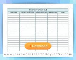 Check Out Sheet Inventory Sign Out Sheet Checkout Form Print And Write Worksheet Designed To Track Assets Checked Out And Returned