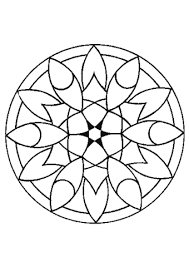 Small Picture Simple Flower Mandala coloring page Free Printable Coloring Pages