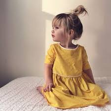 nice adorable girl in yellow dress and messy bun #<b>stylechild</b>...   Kids ...