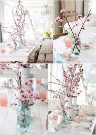 interior decor with cherry blossoms