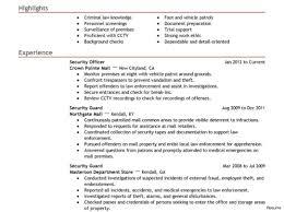 Security Guard Resume Security Guard Resume Objective Image Result For Sample Officer 88