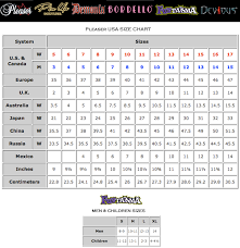 55 Abundant Pleaser Size Chart