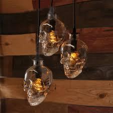 industrial hanging pendant light skull