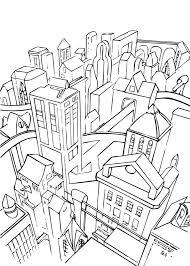 Small Picture Gotham city coloring pages Hellokidscom