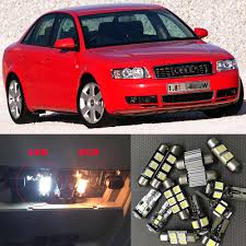 15x Auto Led Interior Light Bulbs Canbus Kit For 2002 2003 2004 Audi A4 B6 Bright 6000k Led Map Reading Door License Plate Lamp