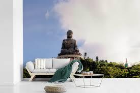 Bolcom Zonnestralen Op De Tian Tan Boeddha In Honkong Fotobehang