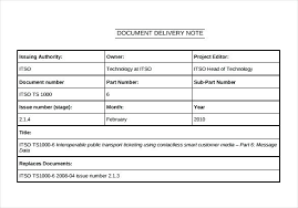 Excel Delivery Sample Delivery Note Templates Doc Excel Word Document