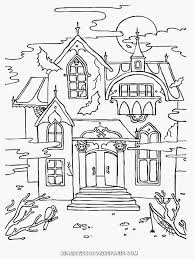 Small Picture Coloring Pages Haunted House Printable To Print For Adults Kids