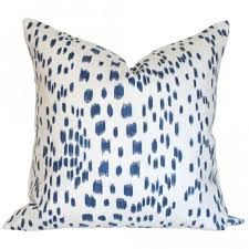 blue and white pillows. Fine White Les Touches Blue Pillow In And White Pillows