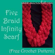 Free Infinity Scarf Crochet Pattern Magnificent Oui Crochet Five Braid Infinity Scarf Free Crochet Pattern