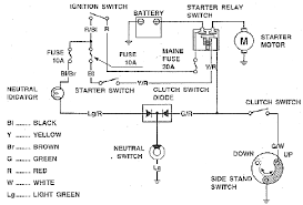 honda cbr electric starter circuit diagram