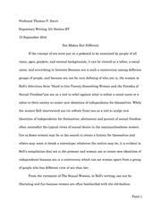 expository writing homo religiosus essay patel professor 6 pages expository writing hard to get twenty something women and the paradox of sexual