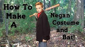 make your own negan costume and bat diy