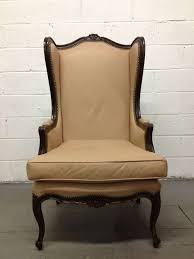 Leather Wingback Chair For Sale French Leather Wingback Chair With Brass Stud Trim For Sale At 1stdibs